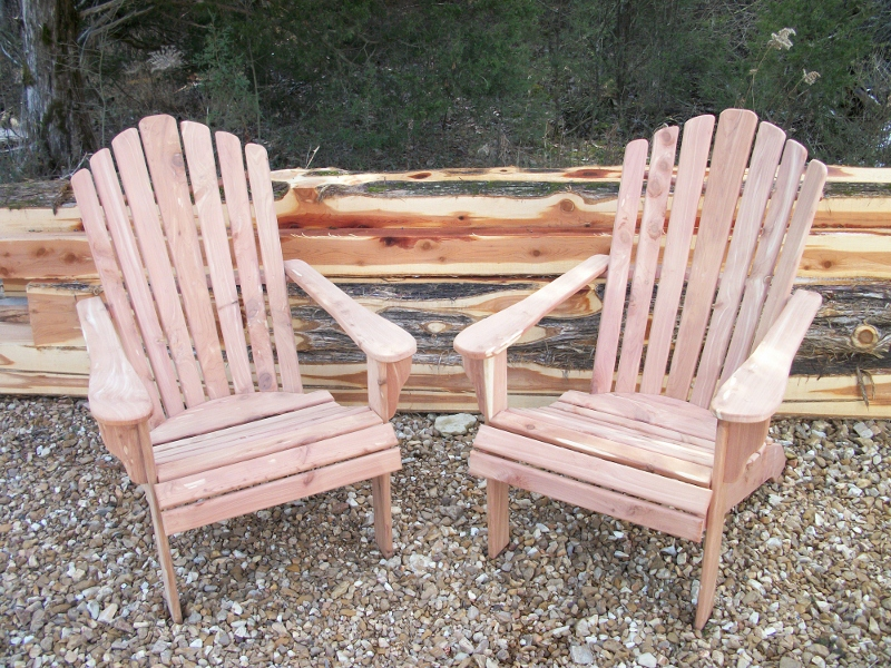 "Picture:  Adirondack chairs made from 3/4"" material.  Price = $150 each"